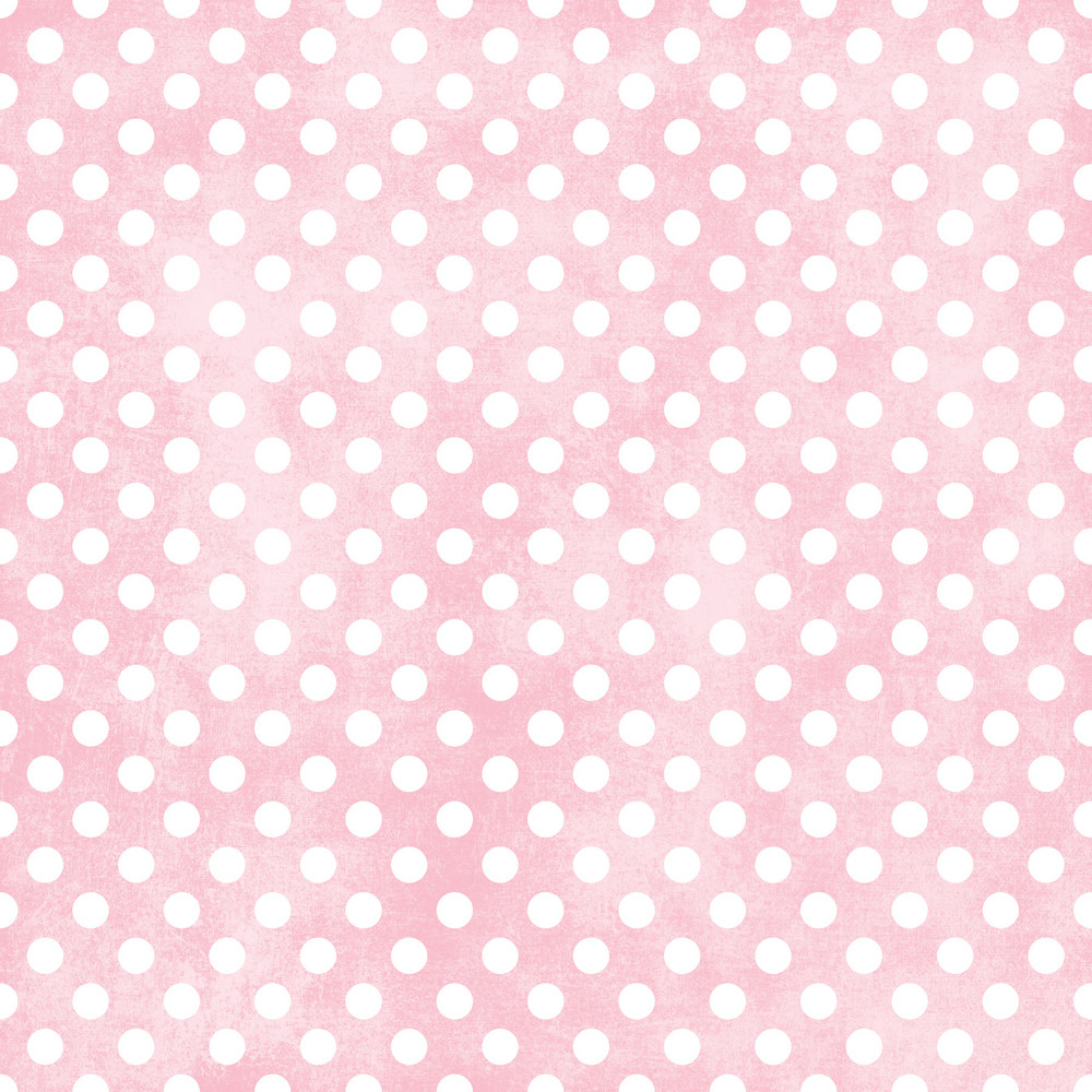 White Polka Dots Pattern On A Shabby Pink Background
