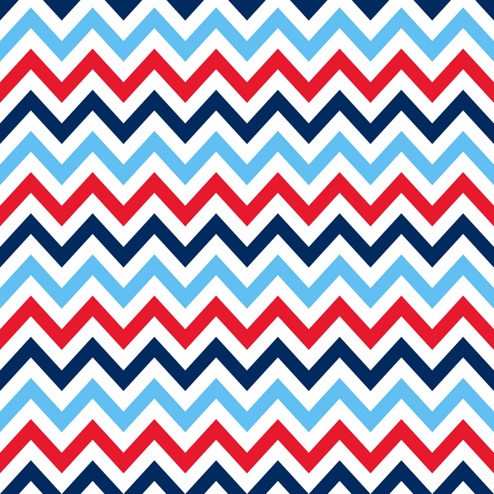 White, Red, And Blue Nautical Chevron Pattern