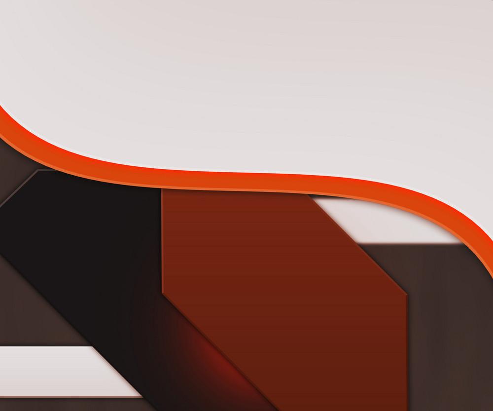 White Shapes Orange Background