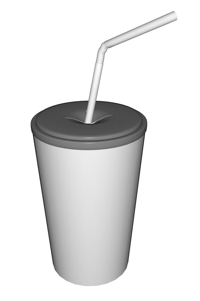 White Soda Cup