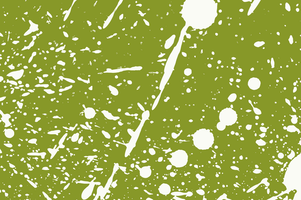 White Splashes On Green