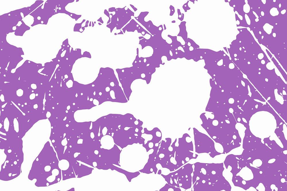 White Splashes On Purple