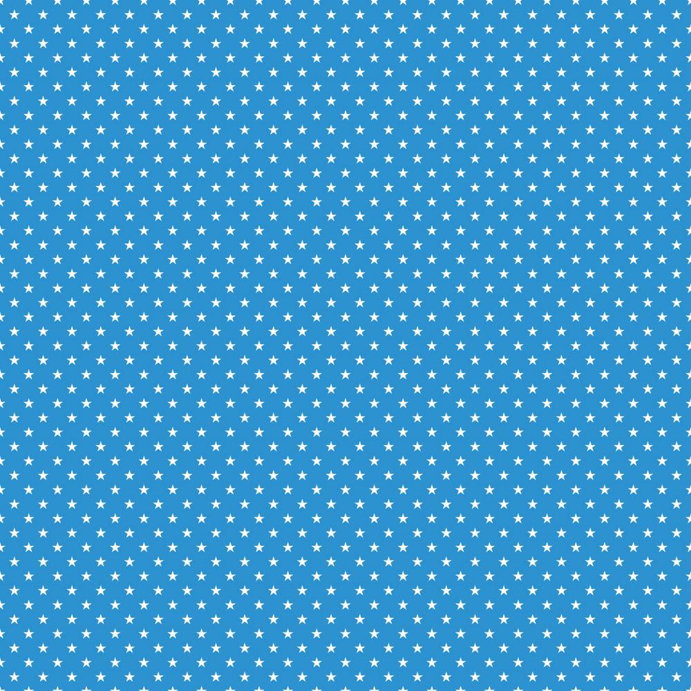 White Stars Pattern On Blue Frozen Inspired Paper