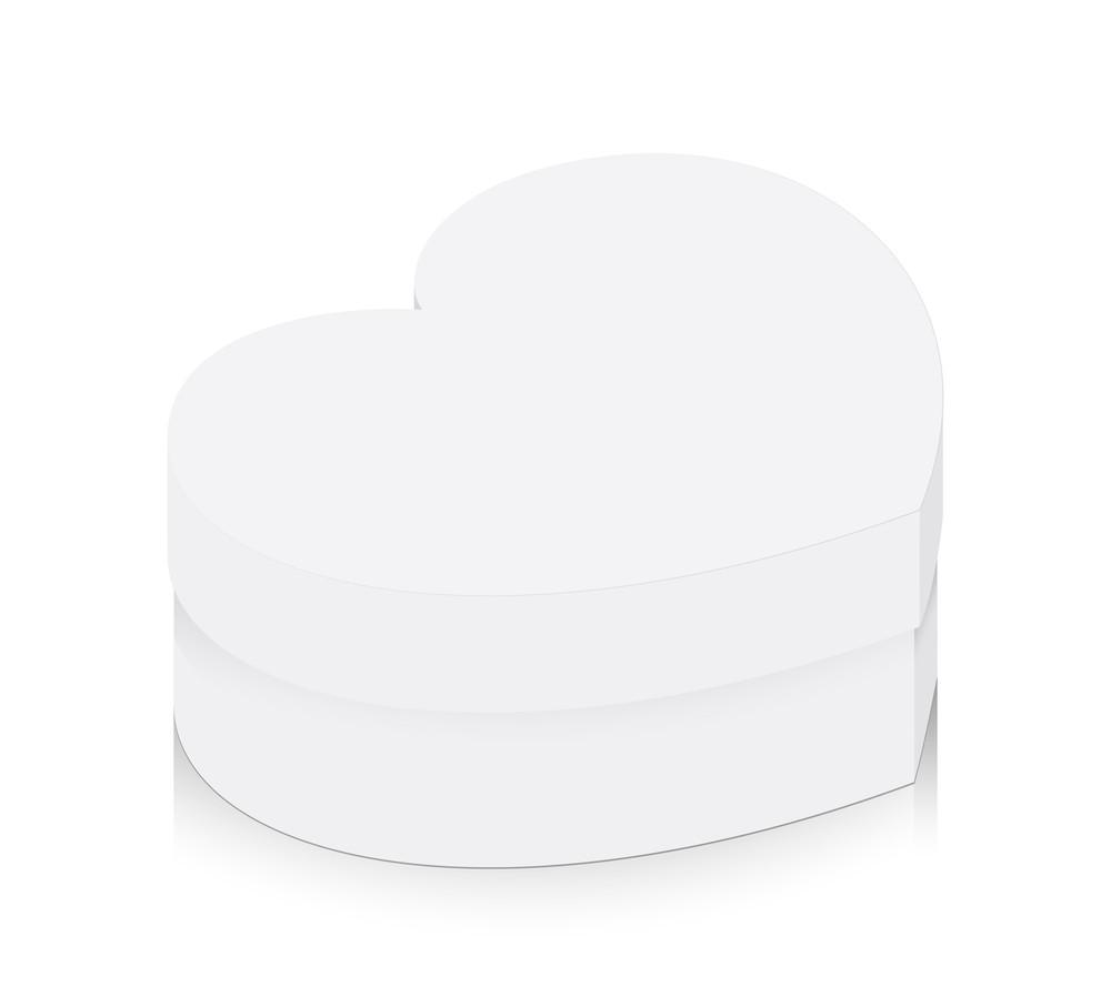 White Valentine Heart Box