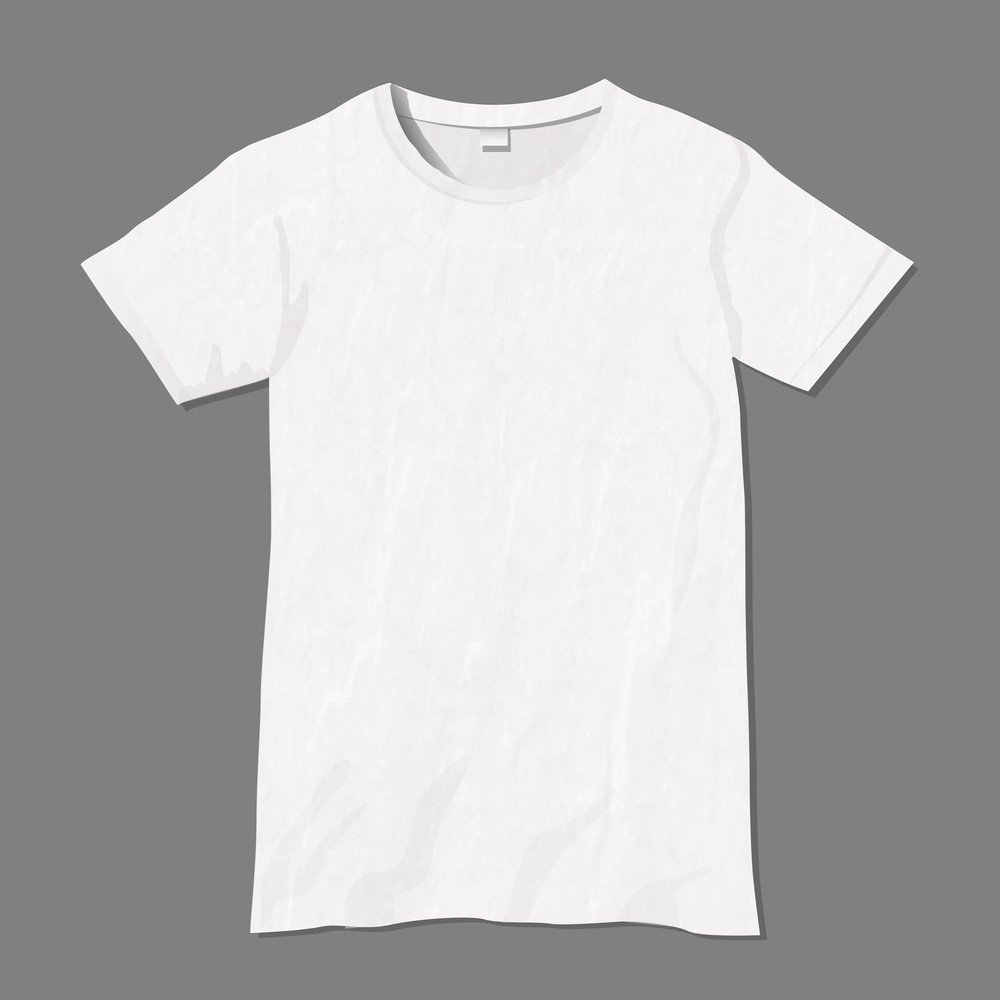Black t shirt model template - White Vector T Shirt Design Template
