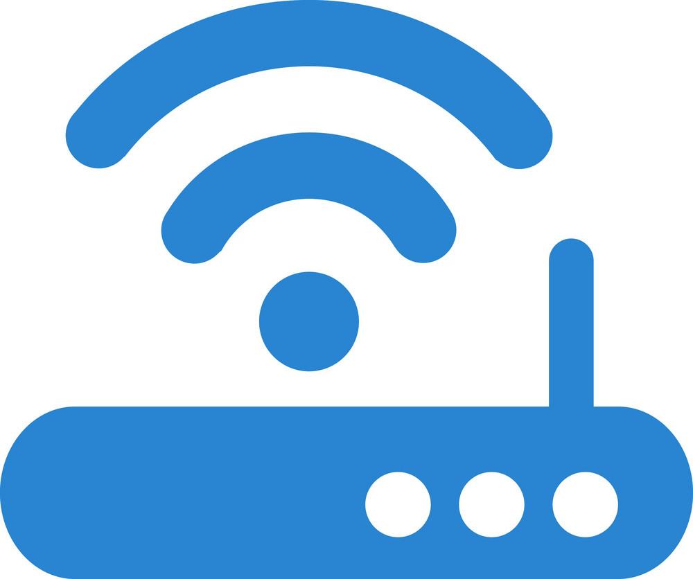 Wifi Router Simplicity Icon