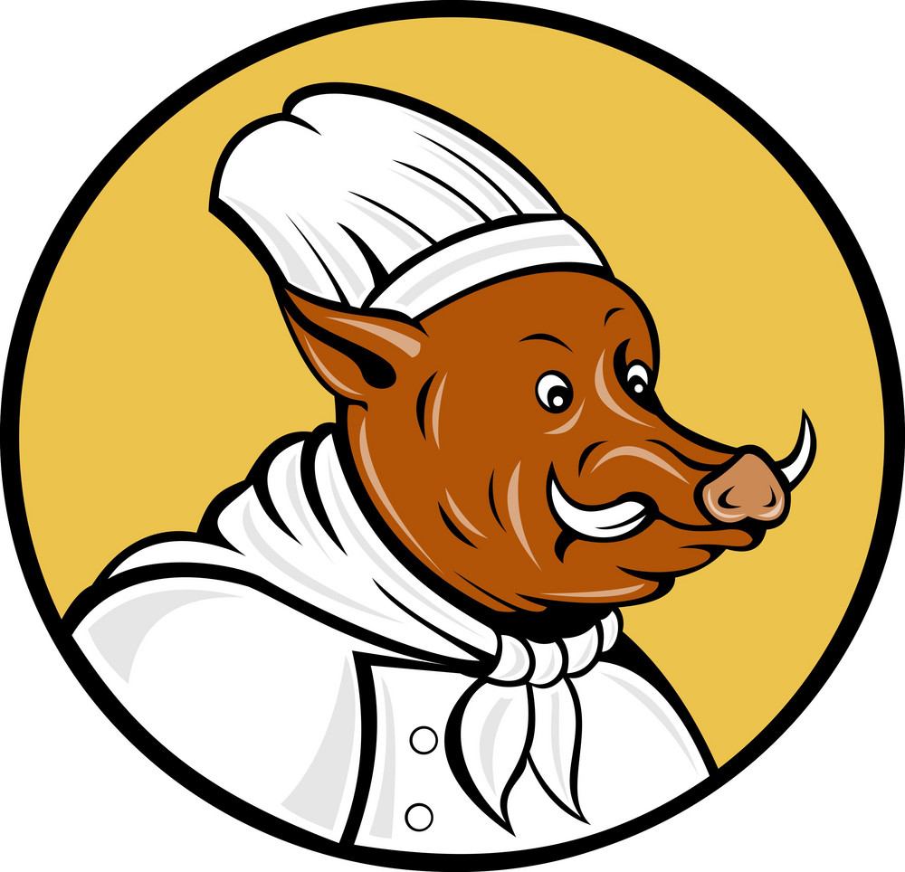 Wild Pig Boar Hog Chef Cook Baker