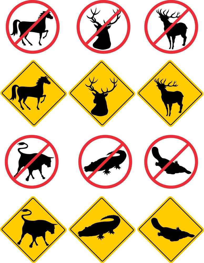 Wildlife Symbols Signs