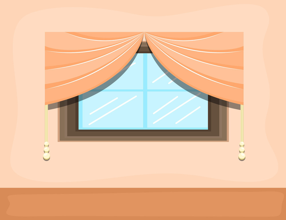 Window - Cartoon Background Vector