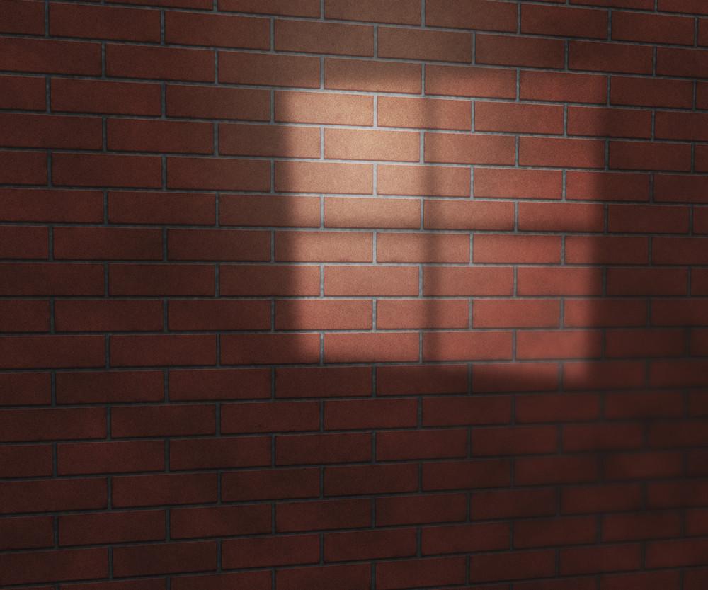 Window Light On Brick Texture Studio Background