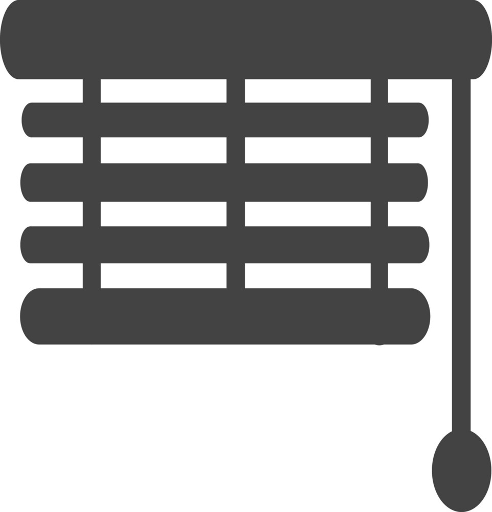 Window Shade Installer Glyph Icon