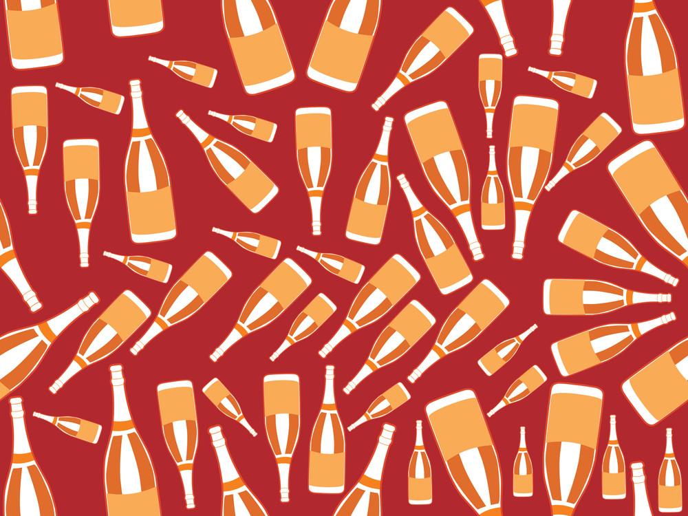 Wine Bottle Pattern Background
