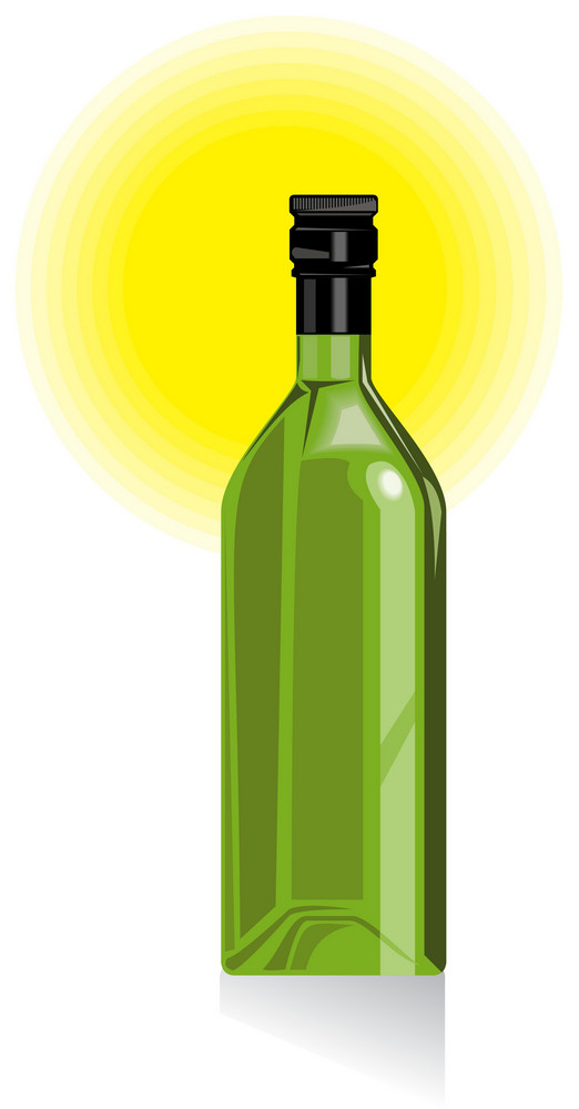 Wine Bottle Retro