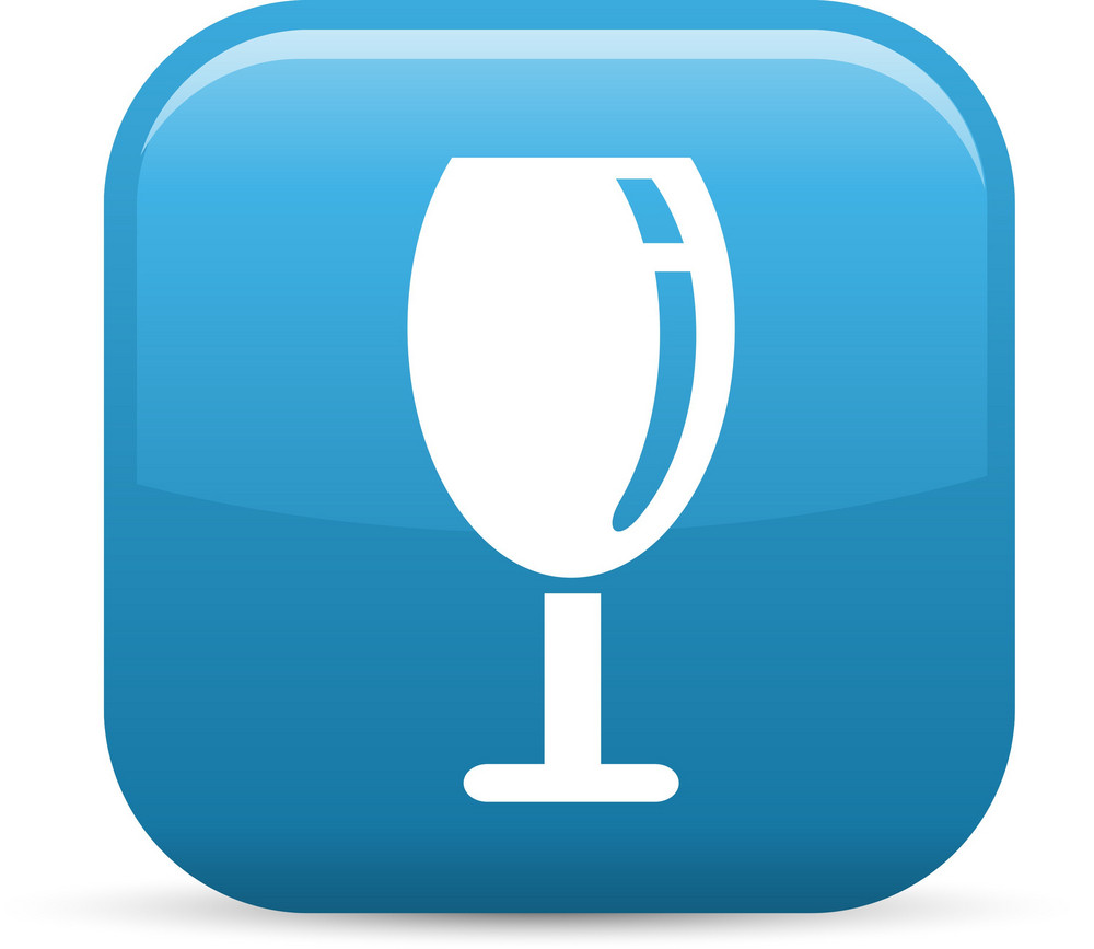 Wine Glass 2 Elements Glossy Icon