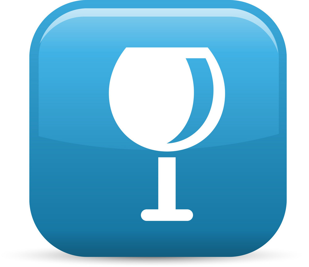Wine Glass Elements Glossy Icon