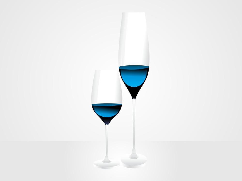 Wine Glass Vector Design1