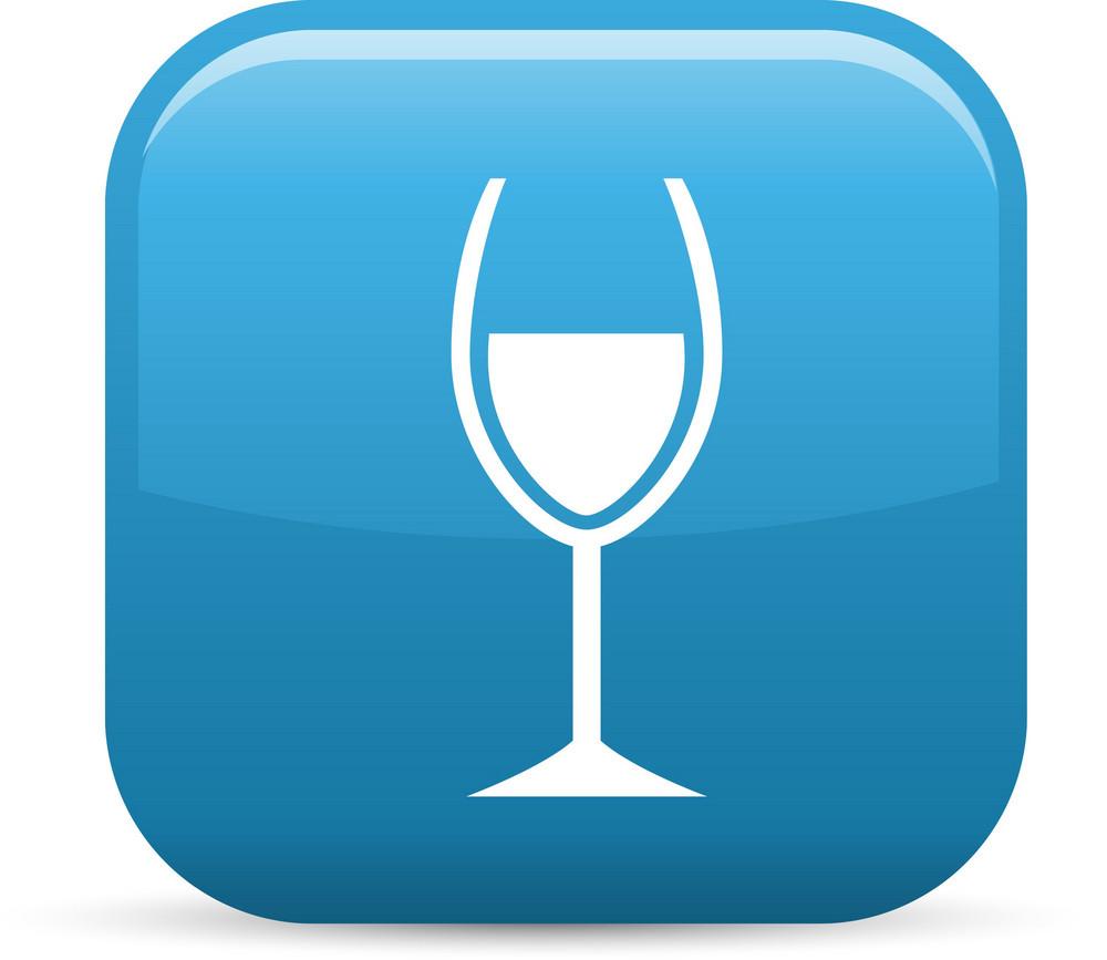 Wine Tasting Elements Glossy Icon