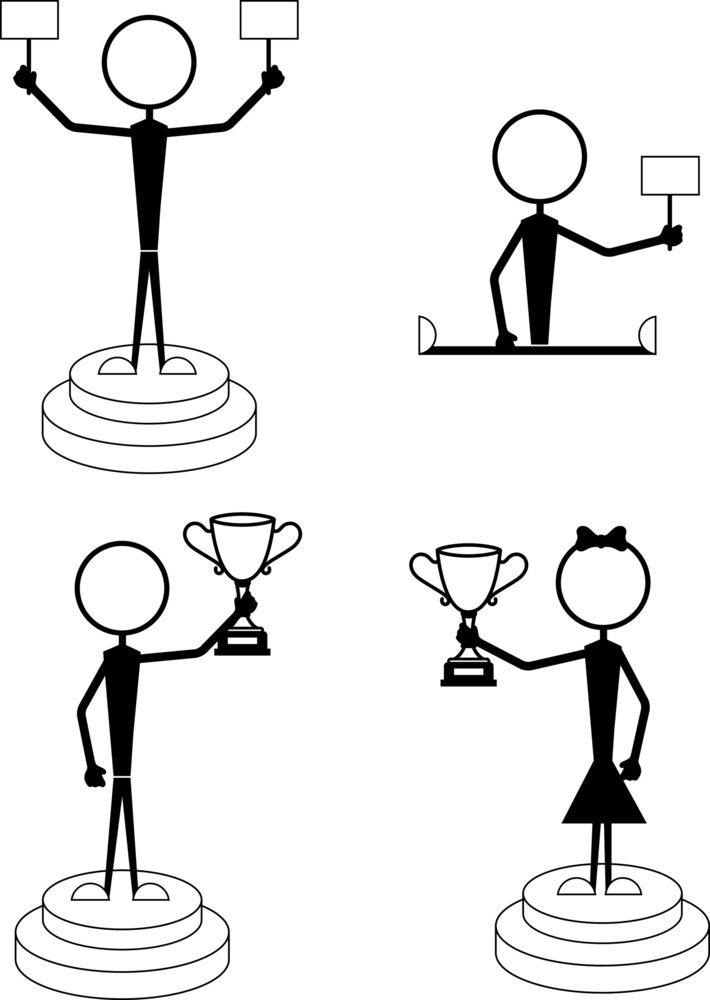 Winners Stick Figure Characters