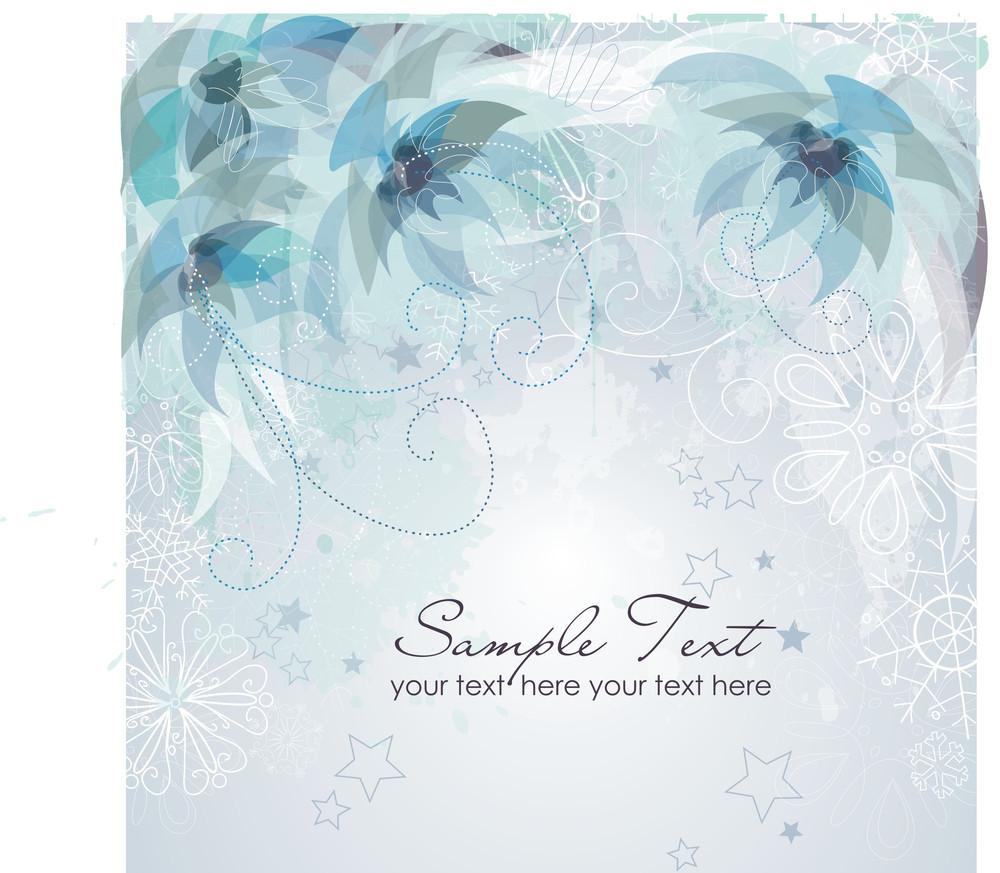Winter Flower Background.