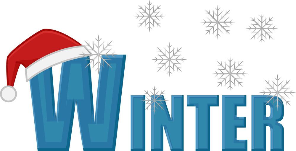 Winter Text Vector