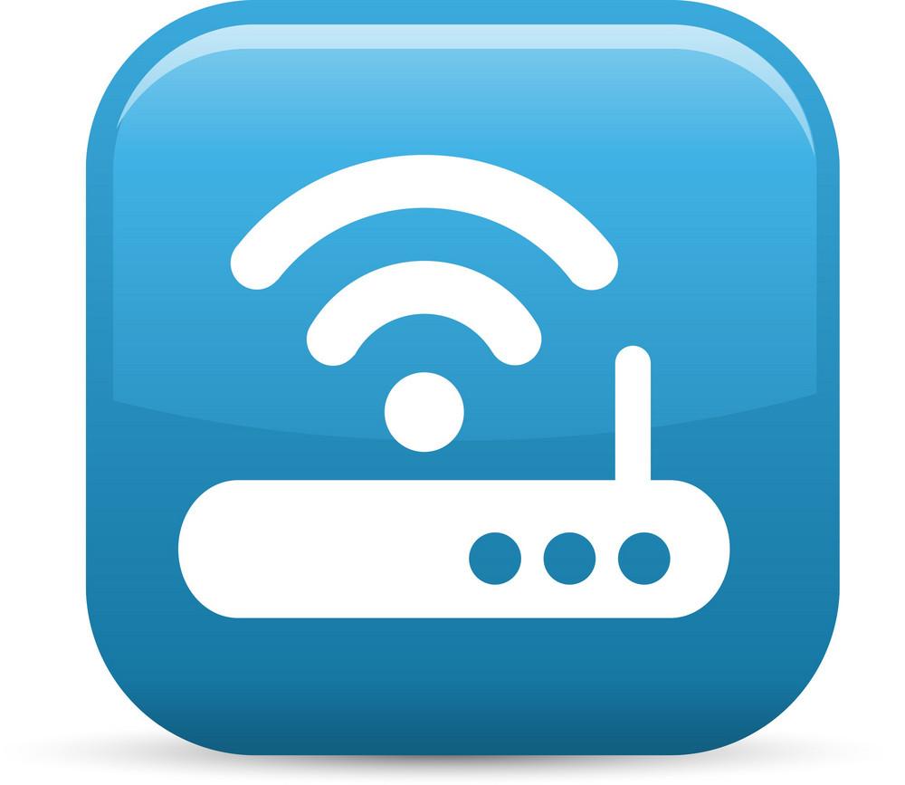 Wireless Internet Wifi Elements Glossy Icon