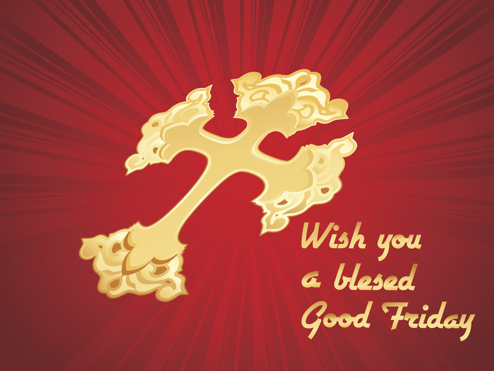 Wish A Blessed Good Friday Card
