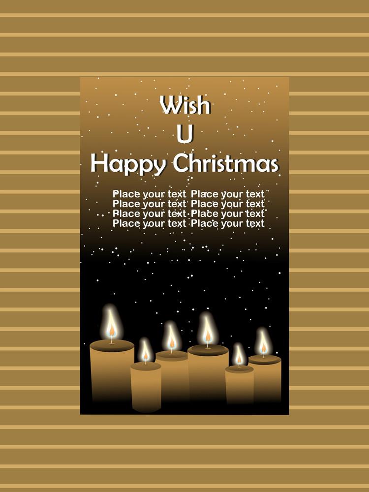 Wish U Happy Christmas Background