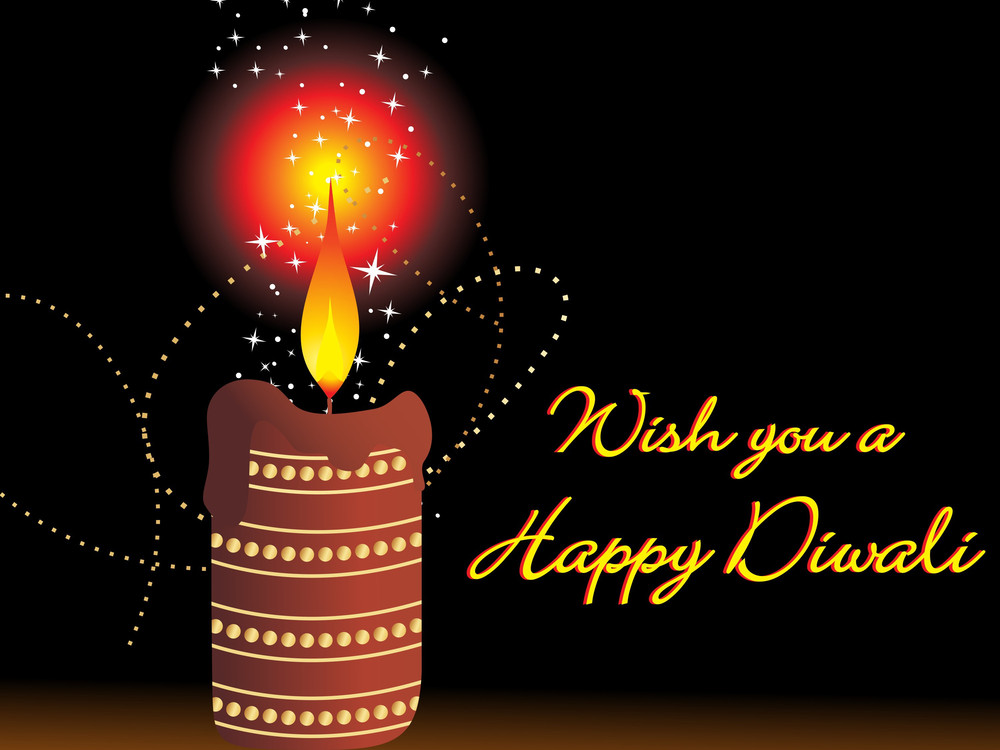 Wish You A Happy Diwali Gretting Card