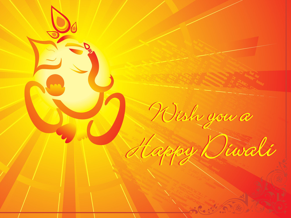 Wish You A Happy Diwali Illustration