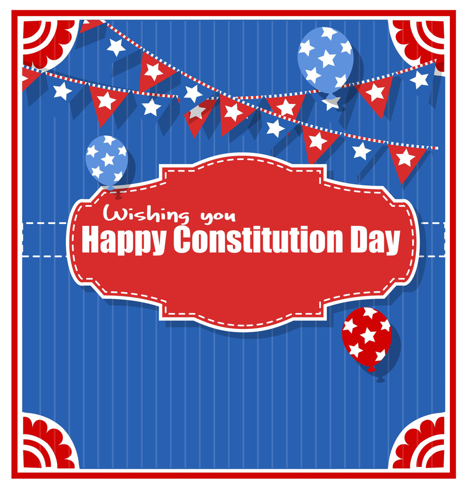 Wishings  Constitution Day Vector Illustration