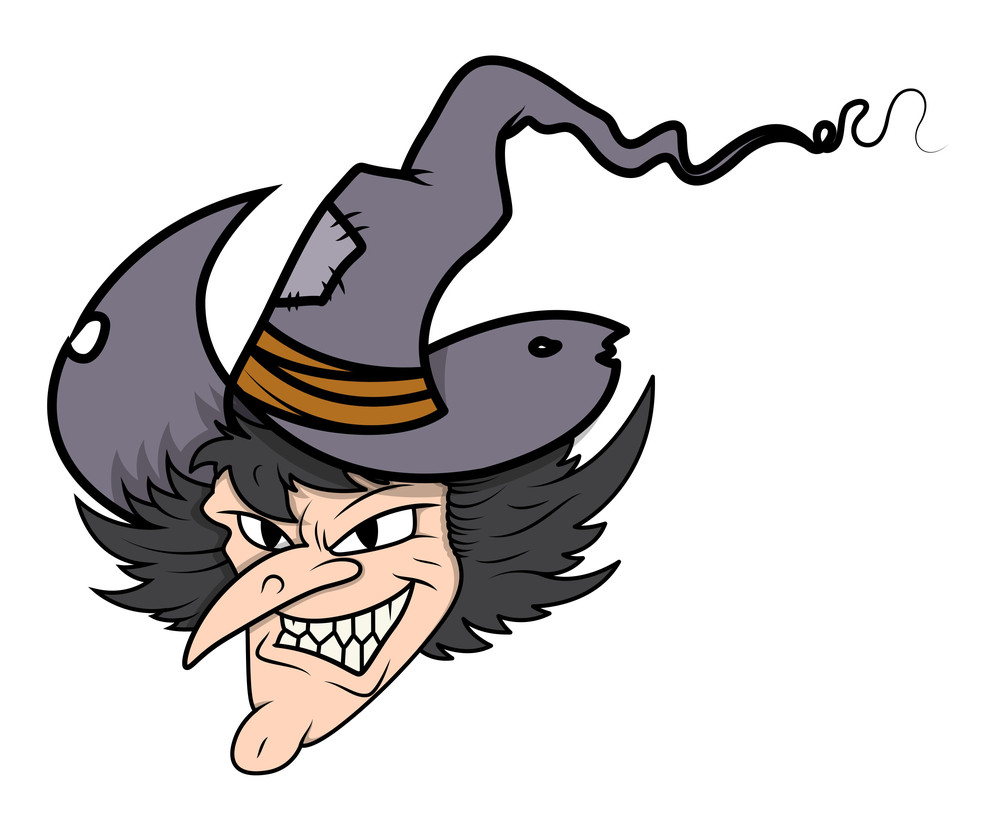 Witch Face - Halloween Vector Illustration