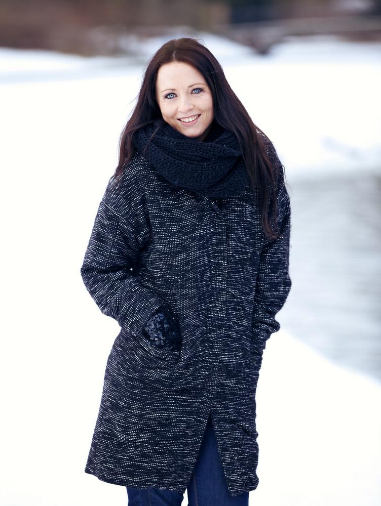 Woman Alone in Winter Wonderland