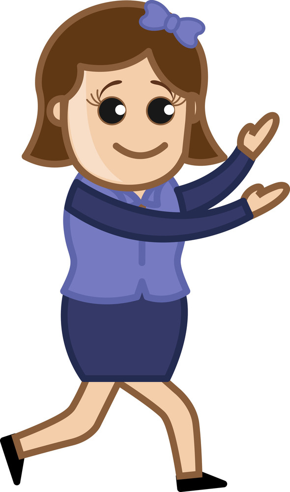 Woman Dancing In Weired Way - Business Cartoon Character Vector