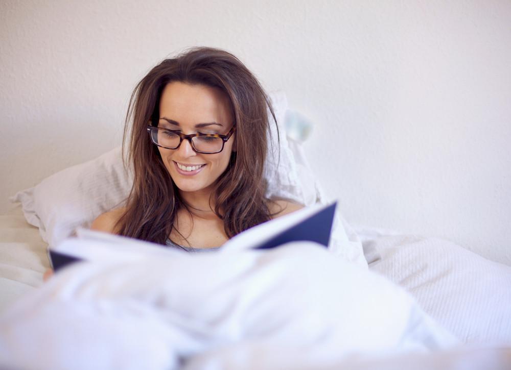 Woman Enjoying a Good Book
