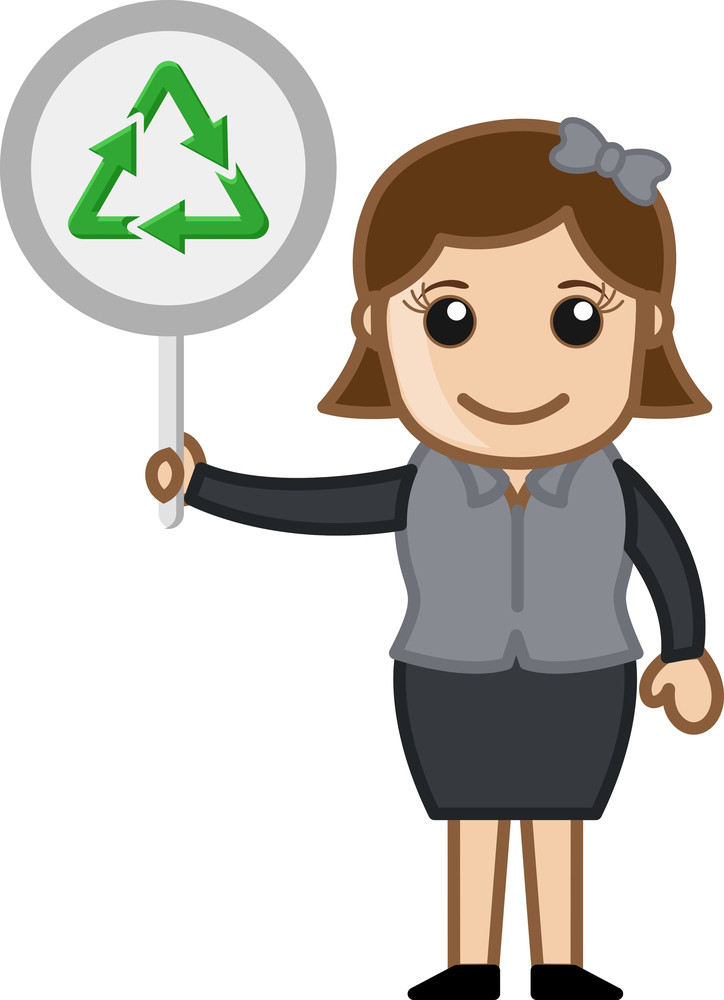 Woman Showing Process Icon Board