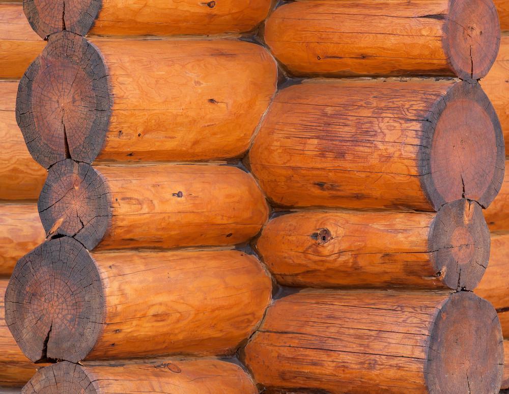 Wood Log Corner