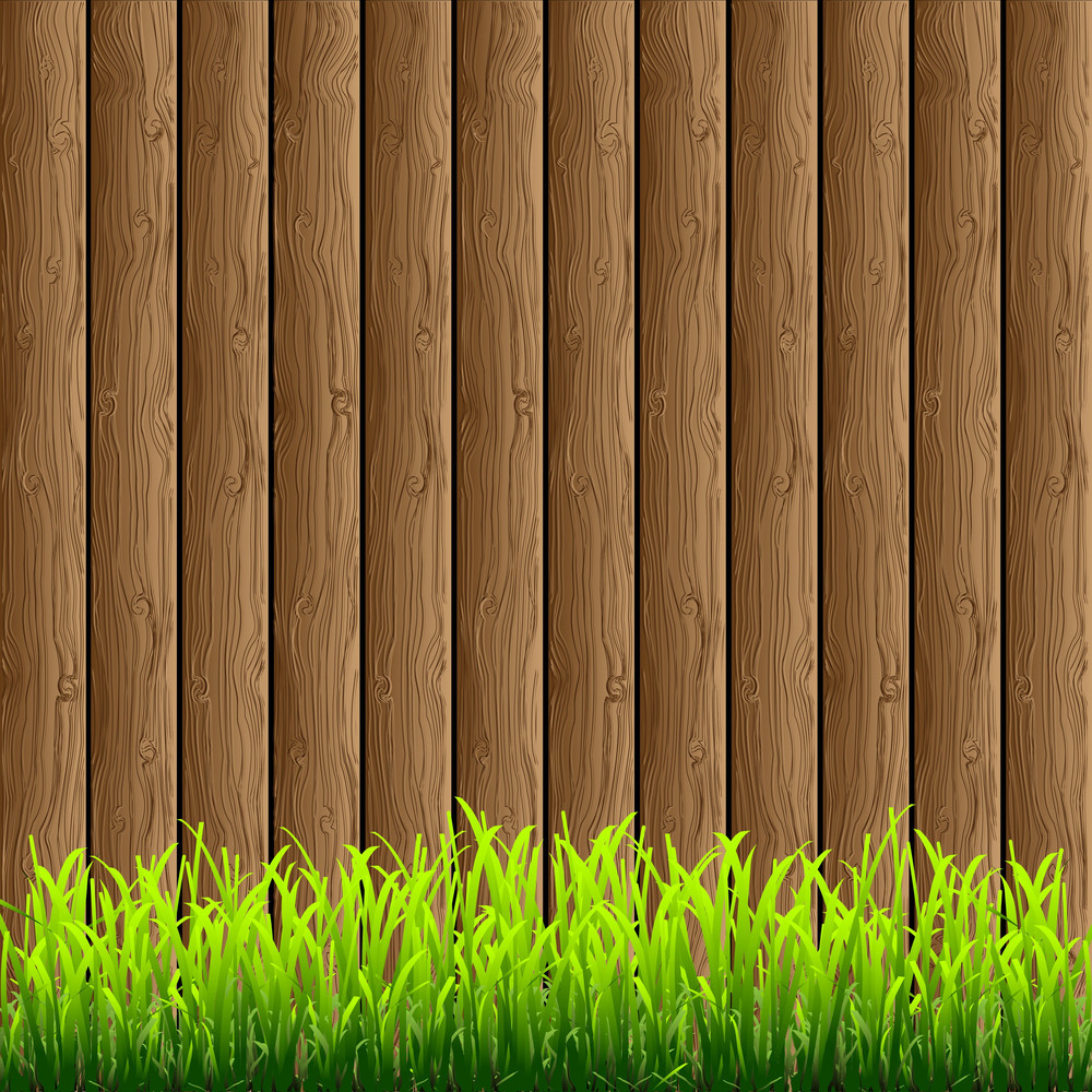 Wood With Green Grass