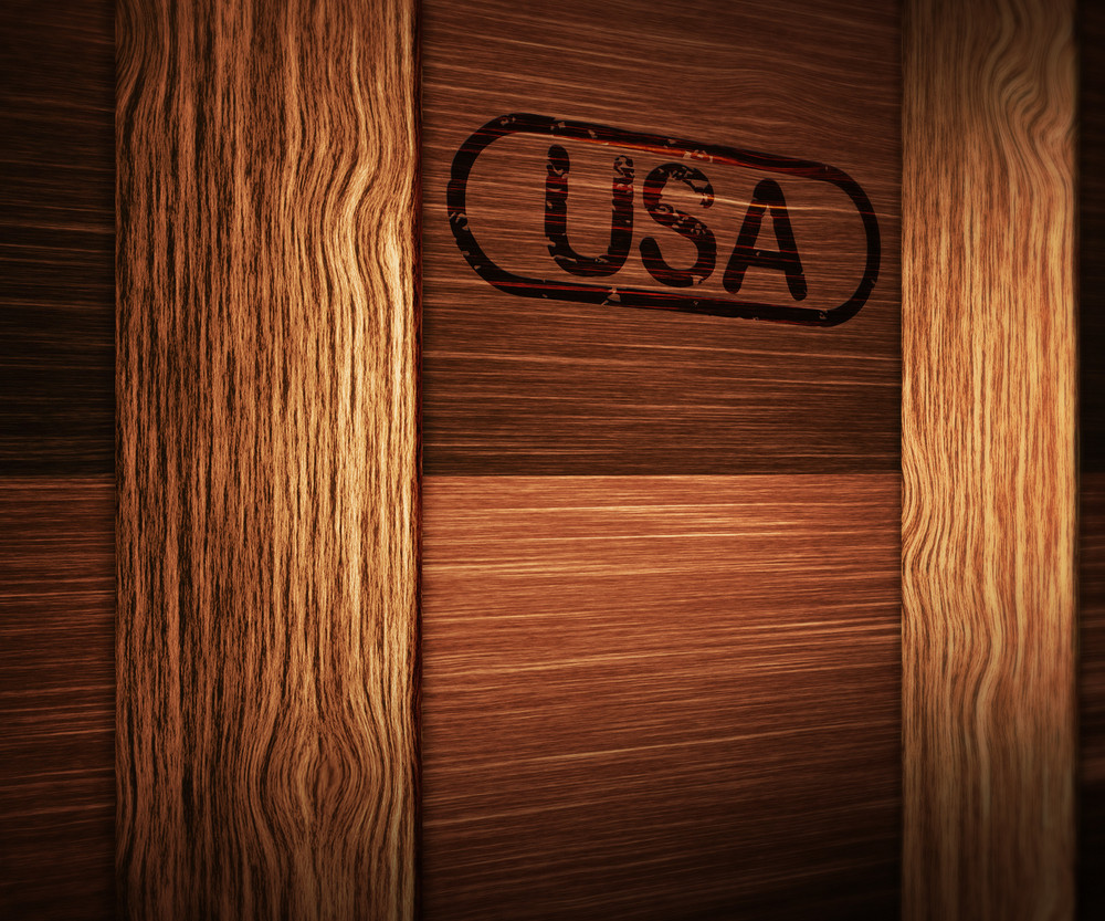Wooden Box From Usa