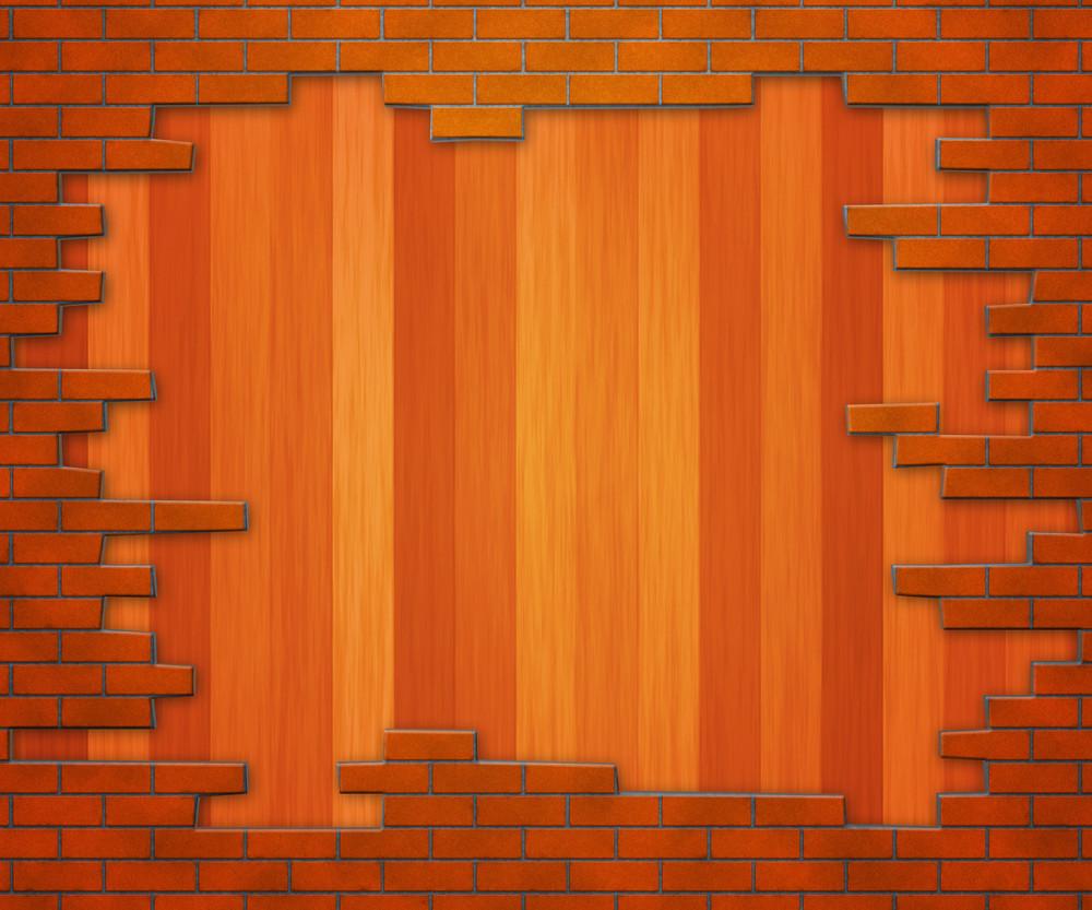 Wooden Brick Wall