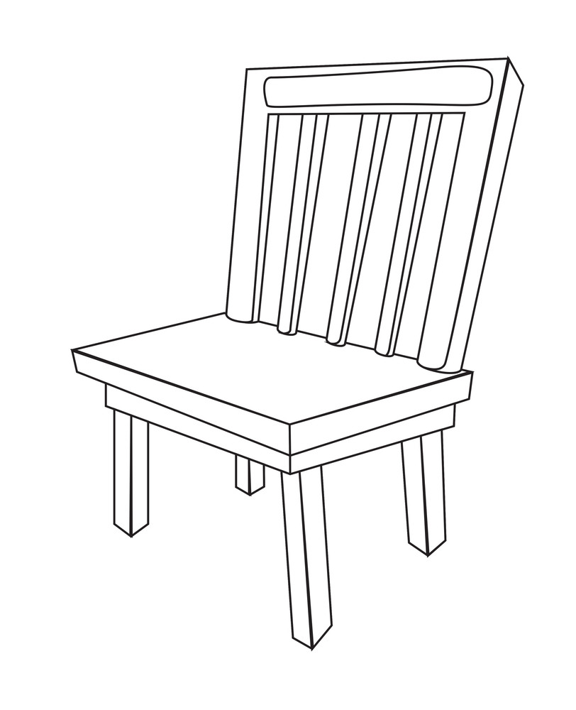Wooden Chair Vector Shape