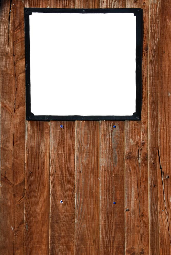 Wooden Fence Billboard