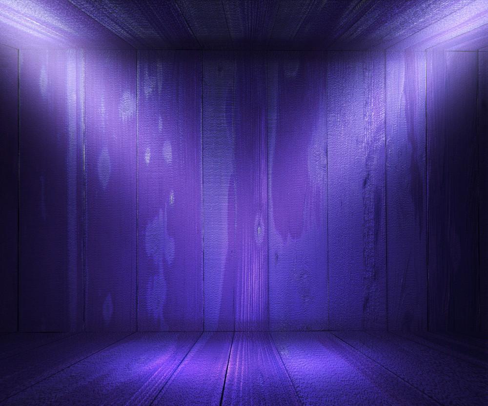 Wooden Spotlight Room Violet Background