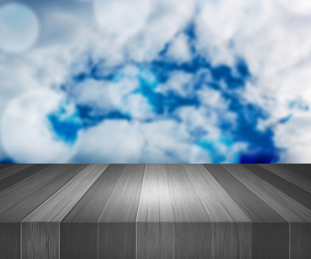 Wooden Stage Sky Background