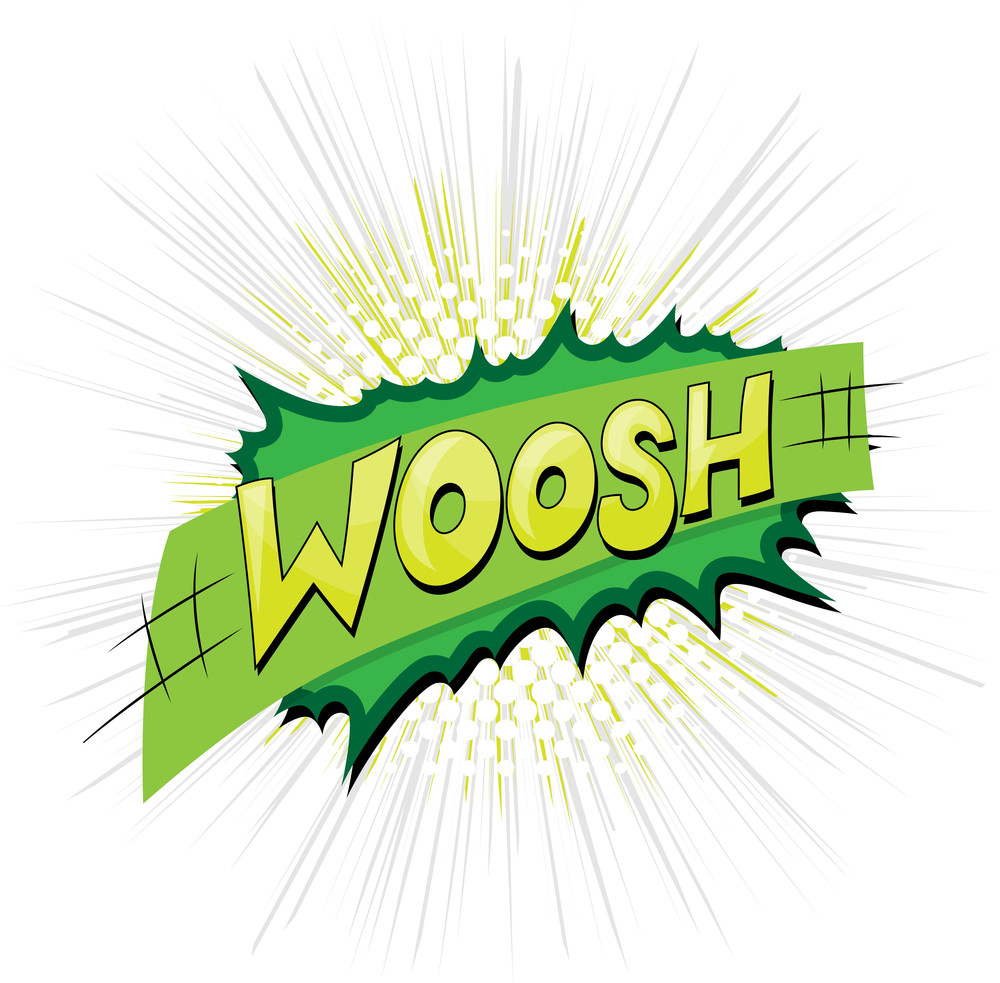 Woosh - Comic Expression Vector Text