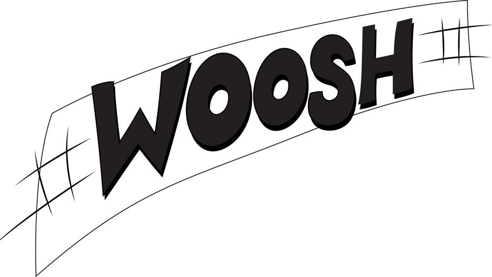 Woosh Vector Text