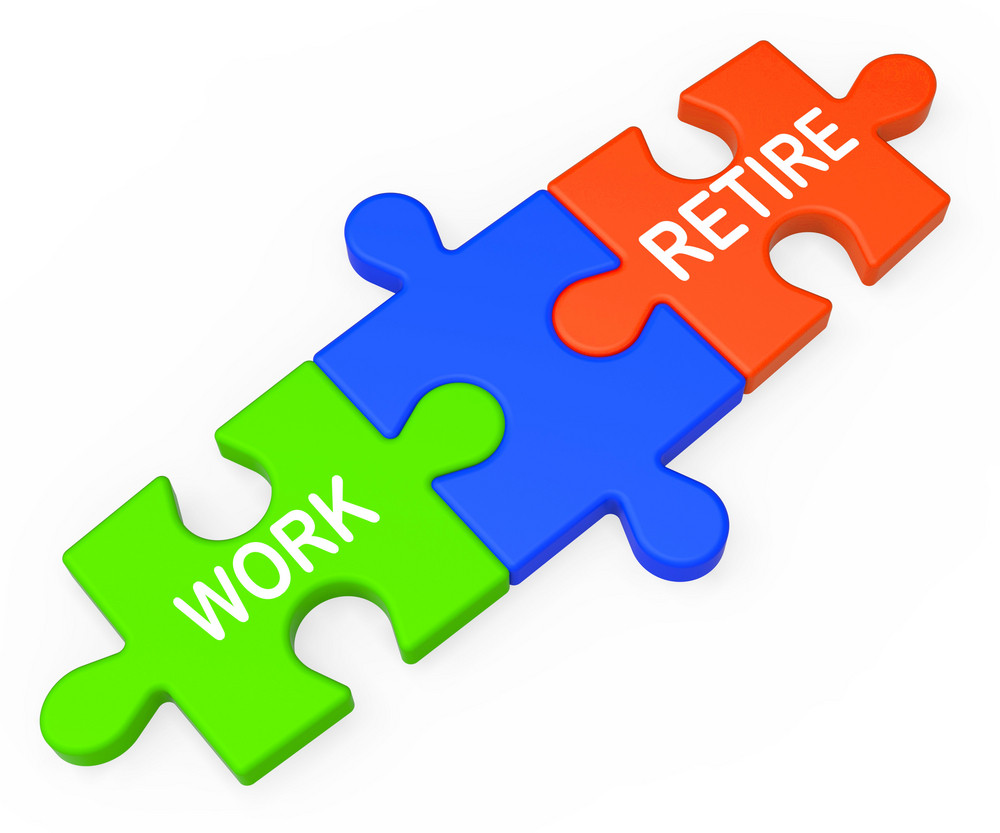 Work Retire Shows Choice Working Or Retirement