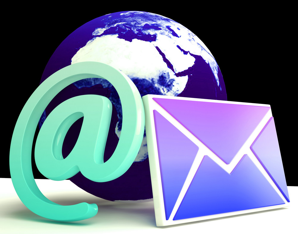 World Email Shows Global Correspondence Post Online