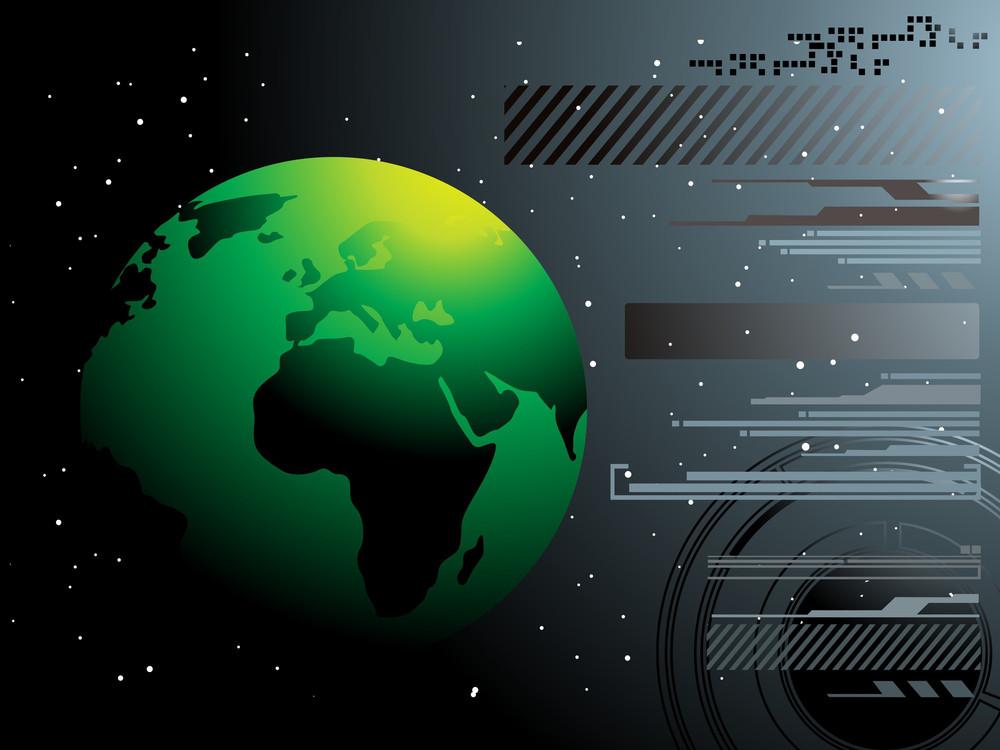 世界地圖技術風格