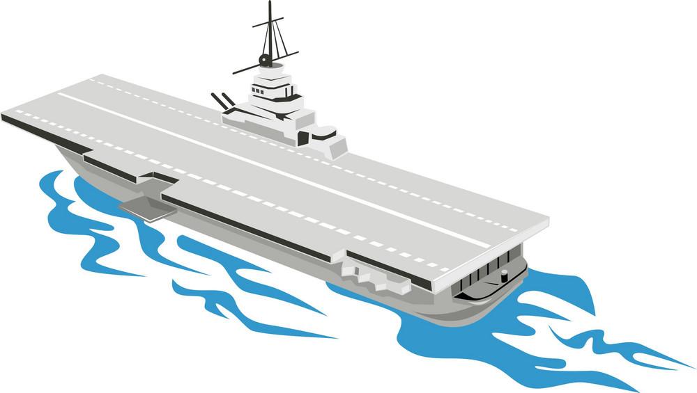 World War Two Aircraft Carrier Retro