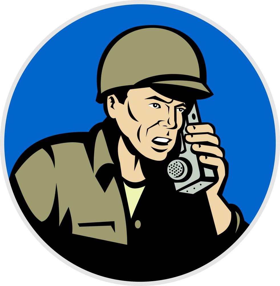 World War Two Soldier Talking Radio Walkie Talkie